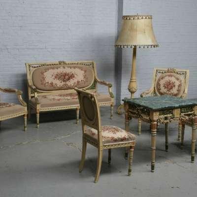 Комплект мягкой мебели в стиле Рококо Людовик XV под заказ, Франция, начало 20 века