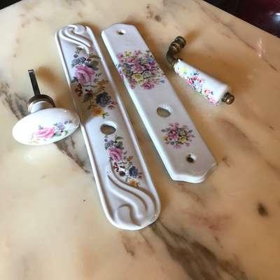 Набор дверная ручка в стиле Прованс Франция, начало 20 века