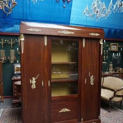 Оригинальный библиотечный шкаф в стиле Ампир. в стиле Ампир, Франция, начало 19 века