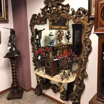 Зеркало/консоль Италия в стиле Барокко Италия, конец 20 века
