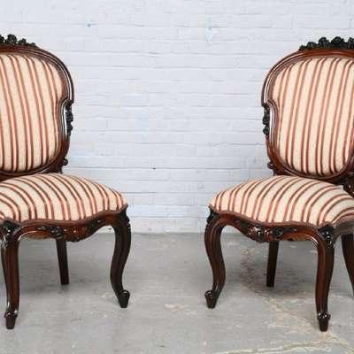 Пара стульев 1890 год в стиле Рококо Людовик XV Бельгия, конец 19 века