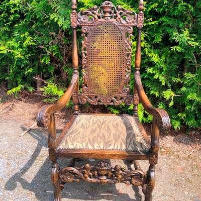 Резное кресло в стиле Ренессанс. в стиле Ренессанс, Голландия, конец 19 века