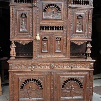 Столовая из массива в стиле Бретонский Франция, начало 20 века