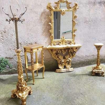 Комплект предметов для прихожей в стиле Барокко Италия, конец 20 века
