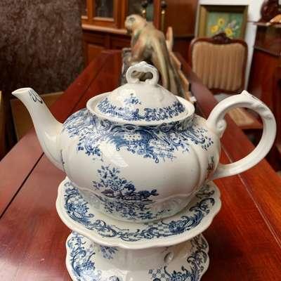 Чайник с подставкой для нагрева. в стиле Прованс, Германия, середина 20 века