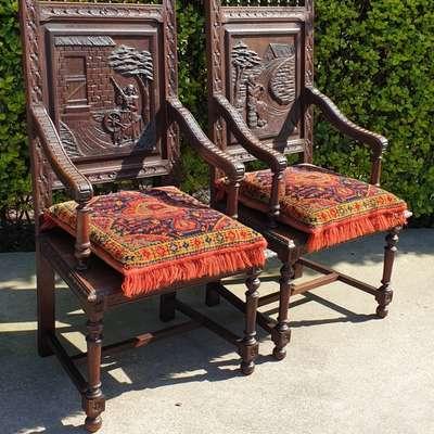 Кресла пара в стиле Бретонский Франция, начало 19 века