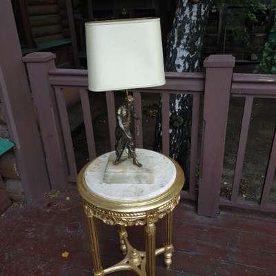 Лампа настольная в стиле Барокко Бельгия, середина 20 века