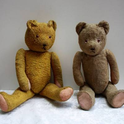 Коллекция антикварных мишек Тедди набиты соломой .Германия 20-30гг в наличии