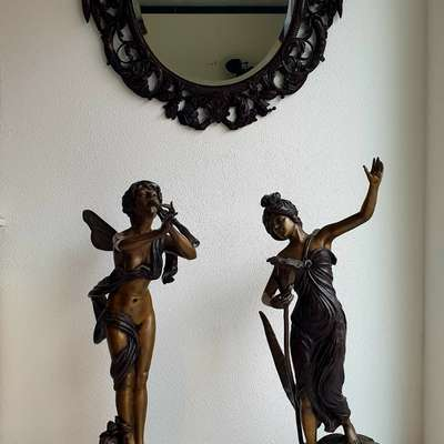 Бронзовые статуи в стиле Модерн, США, начало 20 века