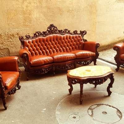 Комплект мягкой мебели в стиле Барокко Италия, середина 20 века