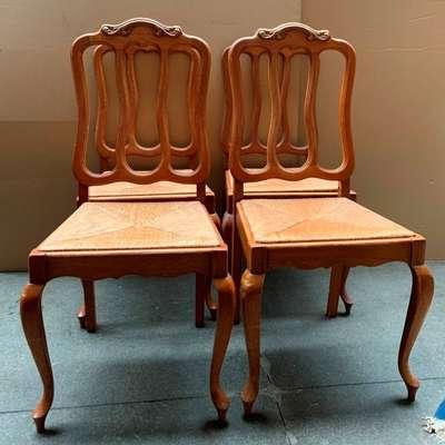Набор из 4 стульев. в стиле Рококо Людовик XV, Бельгия, середина 20 века