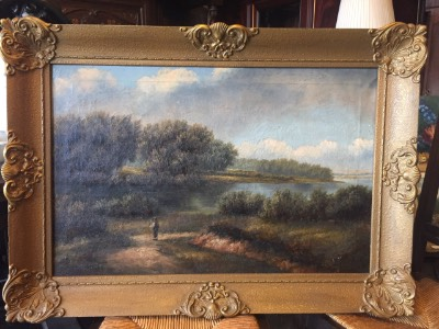 Картина пейзаж в стиле Эклектика в наличии, Голландия, конец 19 века