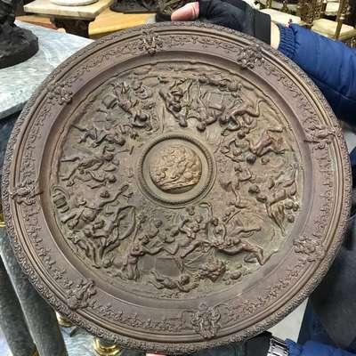 Чеканка тарелка в стиле Эклектика, Голландия, середина 20 века