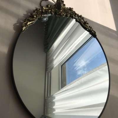 Зеркало бронза в стиле Ампир Бельгия, середина 20 века