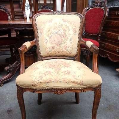 Кресло гобеленовое. в стиле Королевы Анны Бельгия, середина 20 века