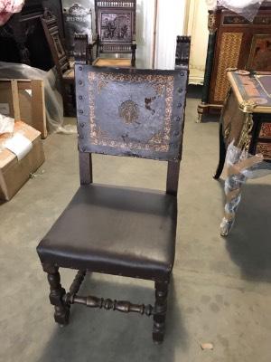 Антикварные стулья 19 век. Натуральная кожа. в стиле Ренессанс в наличии, Германия, конец 19 века