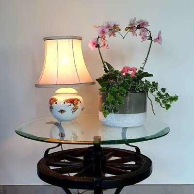 Лампа настольная костяной фарфор в стиле Винтаж, Англия, середина 20 века