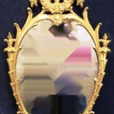 Зеркало из позолоченной бронзы. в стиле Людовик XVI Франция, конец 19 века