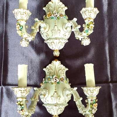 Бра фарфор пара в стиле Барокко, Германия, начало 20 века