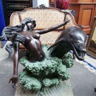 Бронзовая садовая фигура. в стиле Классицизм (классика), Италия, середина 20 века