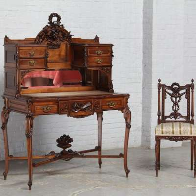 Бюро в стиле Людовик XVI под заказ, Франция, конец 19 века