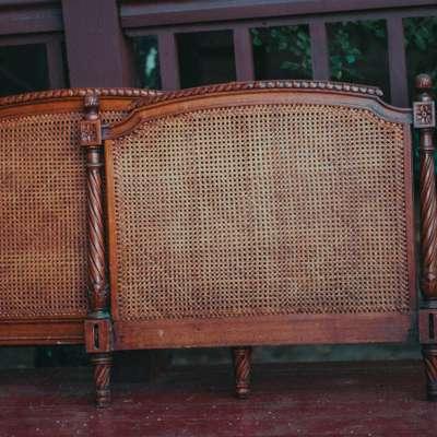 Кровать ротанг в стиле Эклектика, Бельгия, начало 20 века