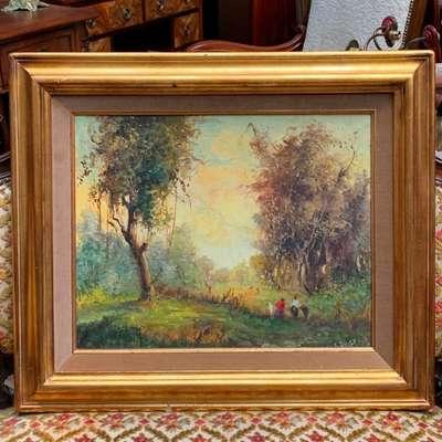 Пейзаж в технике импрессионизма. в стиле Импрессионизм, Бельгия, середина 20 века