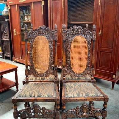Набор из 4 резных стульев. в стиле Ренессанс, Голландия, середина 19 века