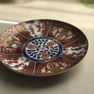 Тарелка в восточном стиле в стиле Шинуазри Франция, середина 20 века