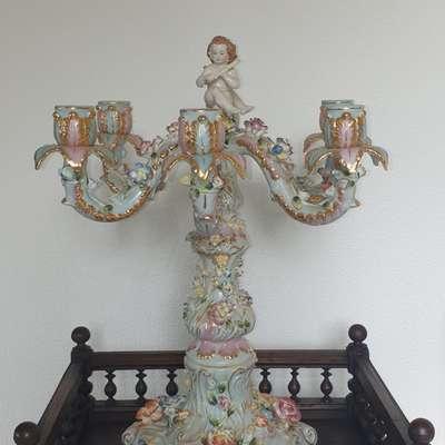 Фарфоровый подсвечник в стиле Барокко Германия, середина 20 века