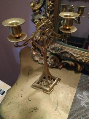 Подсвечник из бронзы в стиле Авангард в наличии, Бельгия, конец 20 века