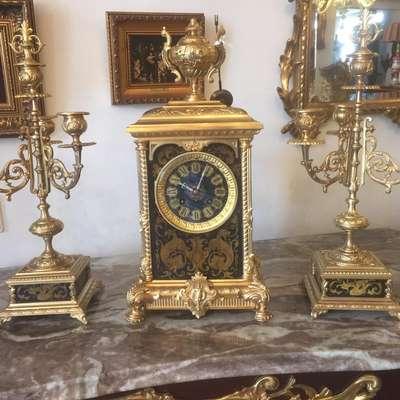 Каминные часы в стиле Ампир Бельгия, середина 20 века
