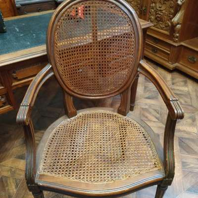 Кресло ротанг в стиле Барокко, Бельгия, начало 20 века