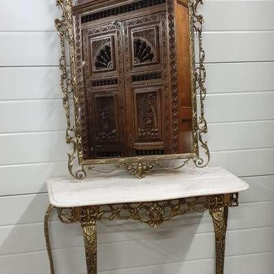 Антикварное зеркало с консолью Барокко Испания в стиле Барокко Испания, начало 20 века