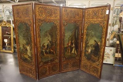 Старинная Ширма 1750 год в стиле Эклектика в наличии, Бельгия, середина 19 века