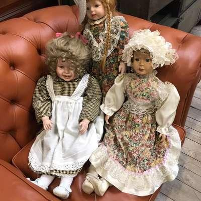 Фарфоровые куклы в стиле Винтаж Бельгия, середина 20 века