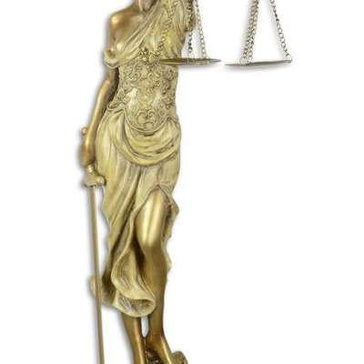 Скульптура Леди Правосудие в стиле Винтаж Бельгия, начало 21 века