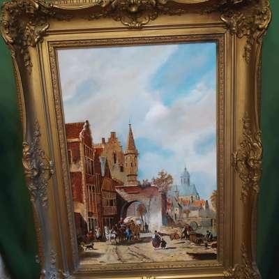 Картина в стиле Винтаж Бельгия, начало 20 века