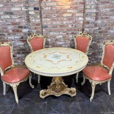 Стол и 4 стула в стиле Барокко, Италия, середина 20 века