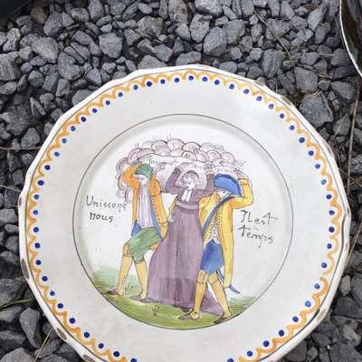 """Тарелка """"Тяжёлая ноша"""" в стиле Винтаж, Франция, конец 20 века"""