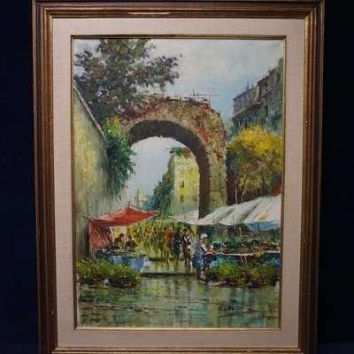 Картина знаменитого хдожника импрессиниста Acerbi Vando (1904-1981). в стиле Импрессионизм, Франция, середина 20 века