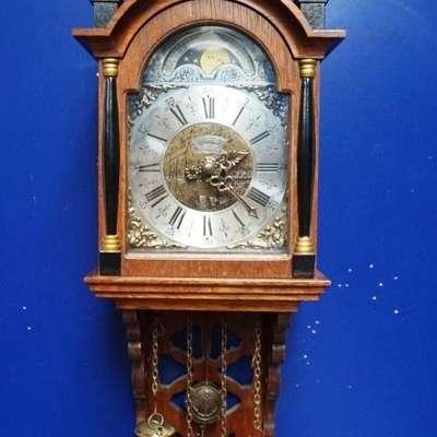 Настенные часы Warmink с лунным календарем. в стиле Провинциальный Голландия, середина 20 века