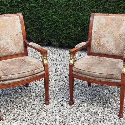 Кресла ампир в стиле Ампир Англия, начало 20 века