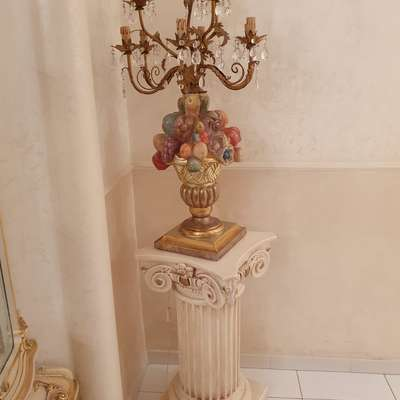 Колонна +светильник в стиле Барокко Италия, конец 20 века