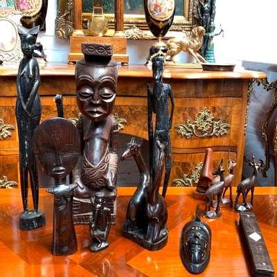 Африканские декоративные фигурки. в стиле Колониальный, Бельгия, начало 20 века