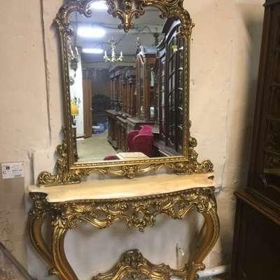 Зеркало и консоль в стиле Барокко Италия, конец 20 века