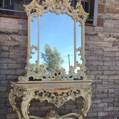 Консоль с зеркалом в стиле Барокко Италия, начало 20 века