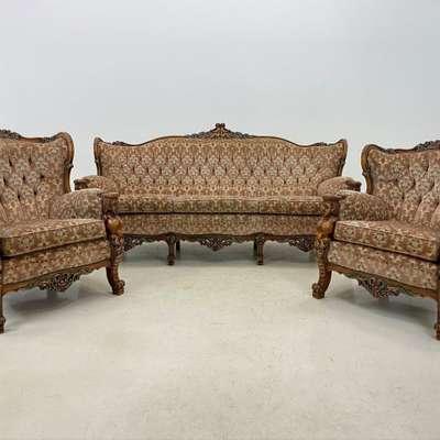 Мягкая мебель в стиле Барокко, Бельгия, начало 20 века