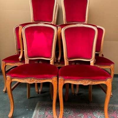 Набор из 12 стульев. в стиле Рококо Людовик XV, Бельгия, начало 20 века