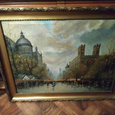 Картина в стиле Барокко Франция, конец 19 века